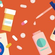 Scattered treatments including different types of pills and natural medications
