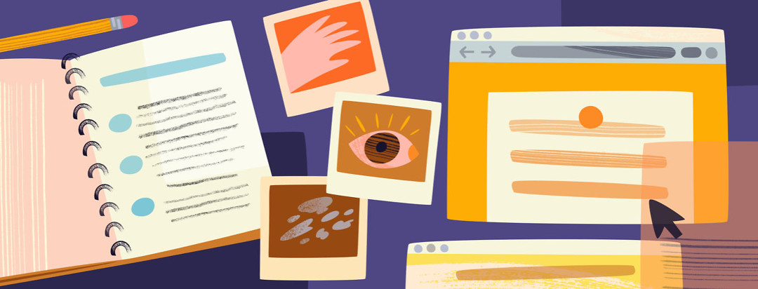 Resources for getting a diagnosis including a journal, photos, and an internet browser