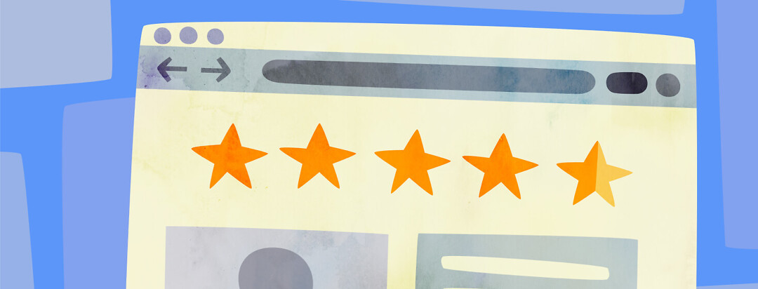 Website page showing an online rating of a doctor