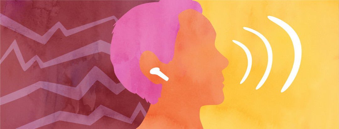 A person with fluctuating hearing loss uses AirPods as hearing aids